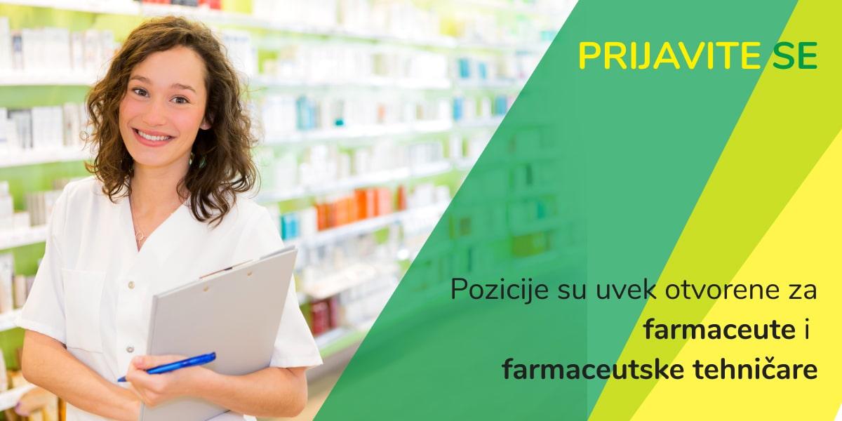 farmaceut farmaceutski tehnicar posao